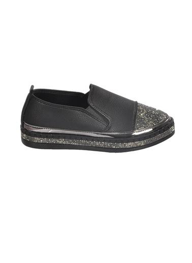 Mhd Mhd 2512 Taş Detaylı Günlük Kadın Ayakkabı Siyah